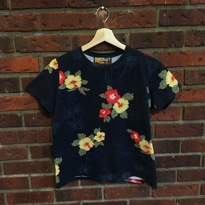 Tropical Vintage Crop Top (fits small)